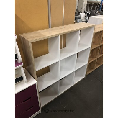 Brown and white shelf