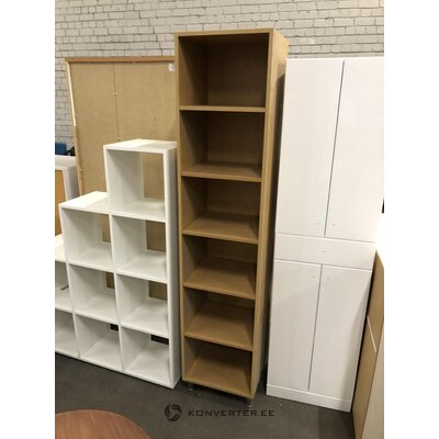 Brown high narrow shelf