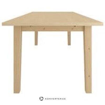 Vaaleanruskea laajennettava ruokapöytä (keskeneräinen)
