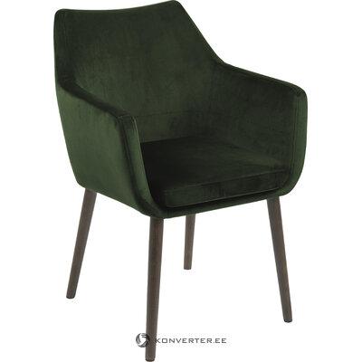 Tumši zaļš samta krēsls Nora (Actona)