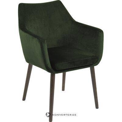 Dark green velvet armchair nora (actona) (with imperfections hall sample)