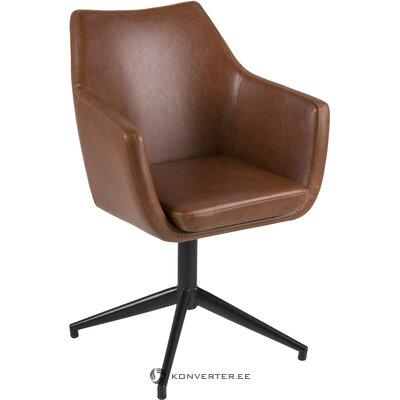 Ruskea-musta kääntyvä tuoli nora (actona) (salinäyte)