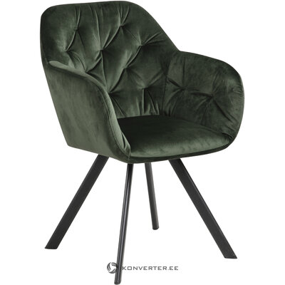 Green velvet soft chair lucie (actona)