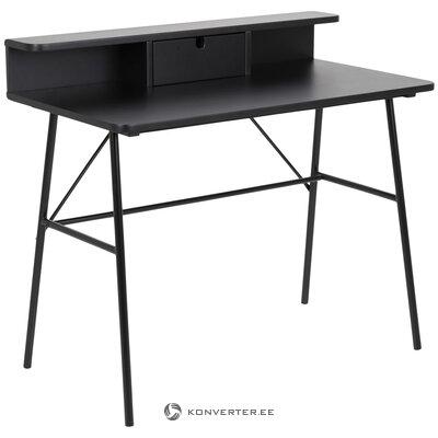 Musta työpöytä Pascal (Actona) (puutteilla, hallinäyte)