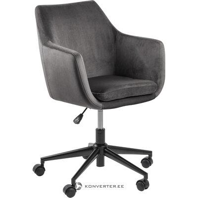 Gray velvet office chair nora (actona)