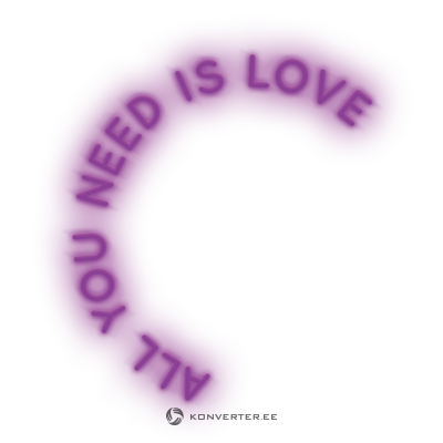 Led lighting (candyshock) all you need is love