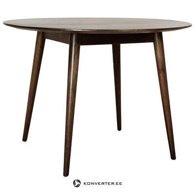 Pyöreä massiivipuinen ruokapöytä (Anderson)