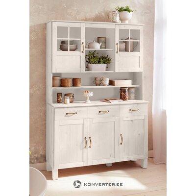 Valge Täispuidust Köögikapp(Alby)