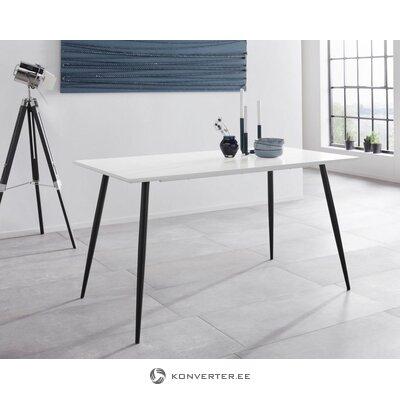 Valkoinen ja musta ruokapöytä (dino)