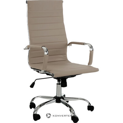 Beige office chair with Prague (bizzotto) (hall sample, small beauty error)