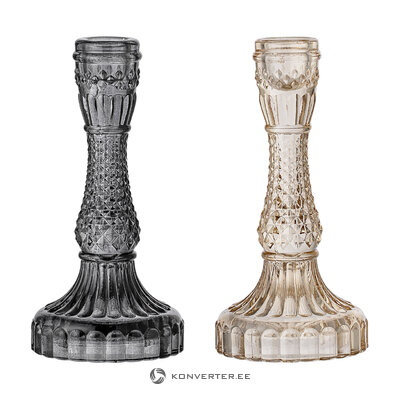 Candlestick set 2-piece waterfall (bloomingville) (whole, hall sample)
