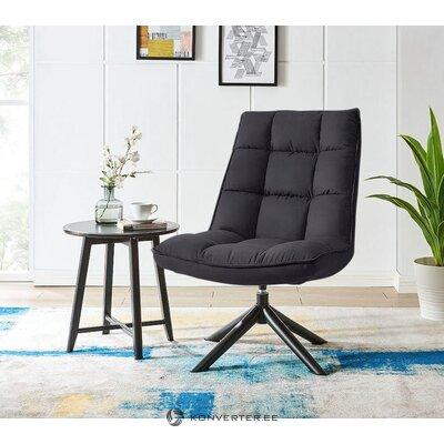 Кресло в скандинавском стиле из черного мягкого бархата (vanja)