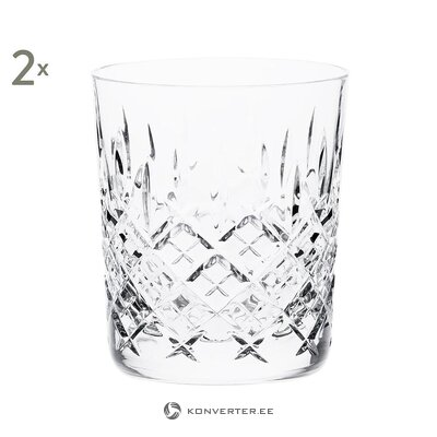 Crystal glass set (2pcs) (royal scot)