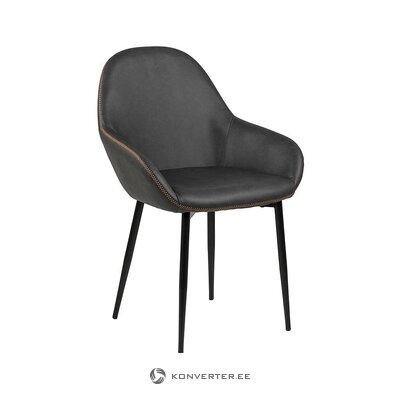 Musta tuoli (actona) (koko, salinäyte)