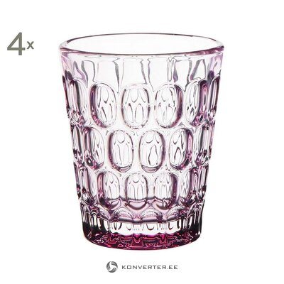 Drinking glass set 4 pcs (côté table) (whole, hall sample)