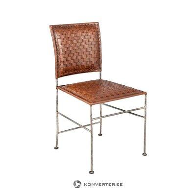 Кожаное дизайнерское кресло (glyre & eef) (образец холла, с дефектом,)