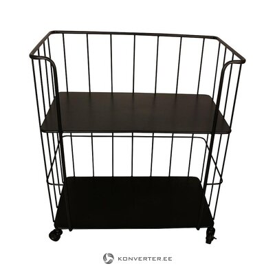 Black serving trolley (east import) (with beauty defects., Hall sample)