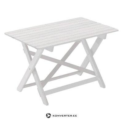 Valkoinen puutarhapöytä (hillerstorp) (salinäyte)