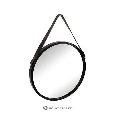 Juodas rėminis sieninis veidrodis (vidinis interjeras) (dėžutė, visas)