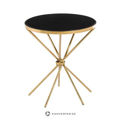 Golden-black marble coffee table (ixia) (whole, hall sample)
