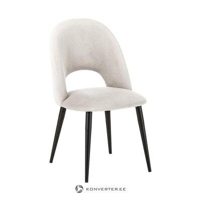 Bēšs-melns samta krēsls (Rachel) (ar skaistuma defektiem zāles paraugs)