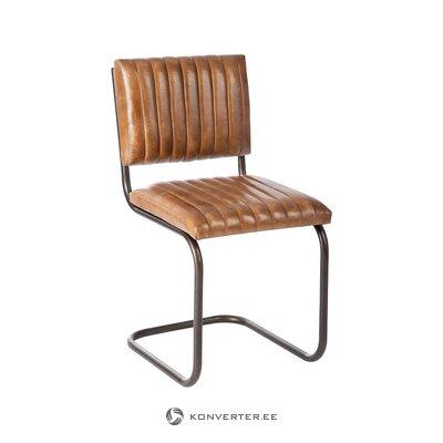 Brūns ādas krēsls (jolipa) (kastē, vesels)