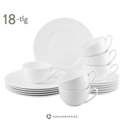 White kitchenware set 18-piece (rosenthal) (whole, hall sample)