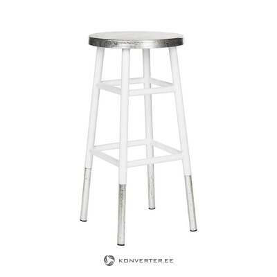White-silver bar stool (safavieh) (with defect ,, hall sample)