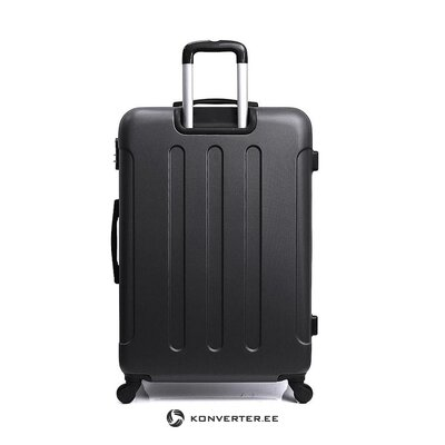 Musta keskikokoinen matkalaukku (bluestar) (kokonainen, salinäyte)