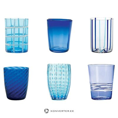 Drinking glass set with pattern (zafferano) (whole, in a box)