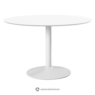 Balts pusdienu galds (actona)