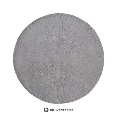Gray round viscose carpet (wedgwood) (whole, in a box)