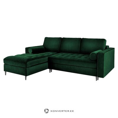 Green velvet corner sofa bed (milo casa)