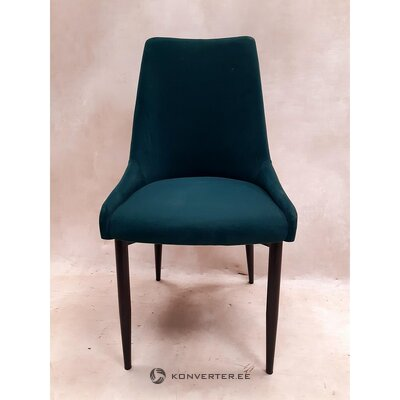 Dark green-black velvet chair (sierra) (with imperfections., Hall sample)