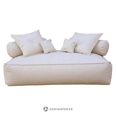 2-местный бежевый модульный диван (filippo ghezzani) (дефект красоты, образец зала)