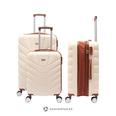Beige-brown medium suitcase (lys paris) (whole, sample of the hall)