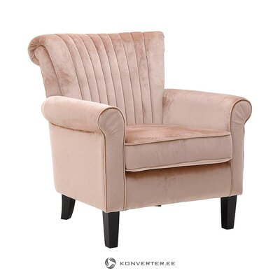Vaaleanpunainen samettinen nojatuoli (inart)
