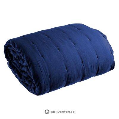 Синее стеганое стеганое одеяло (иксия)