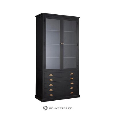 Black mango wooden display cabinet (jotex sweden) (with defects. Hall sample)