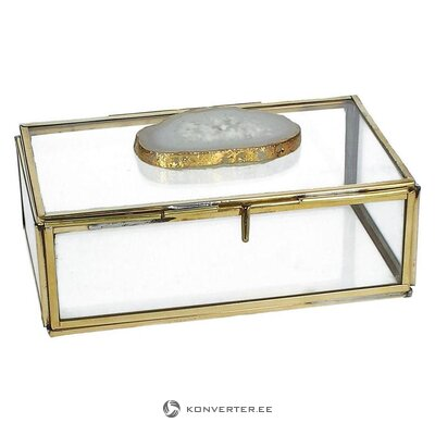 Small glass storage box (chimney) (whole, in a box)