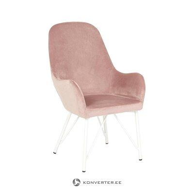Vaaleanpunainen samettinen nojatuoli (martinsen)