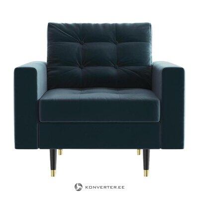 Zils samta krēsls (daniel hechter mājās)