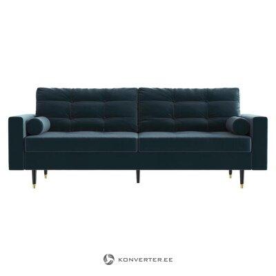 Mėlyna aksominė sofa (daniel hechter namai)