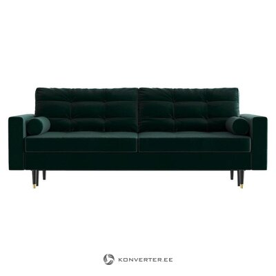 Dark green velvet sofa bed (daniel hechter home)