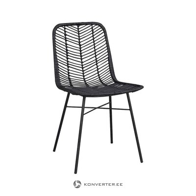 Rattan wicker black chair