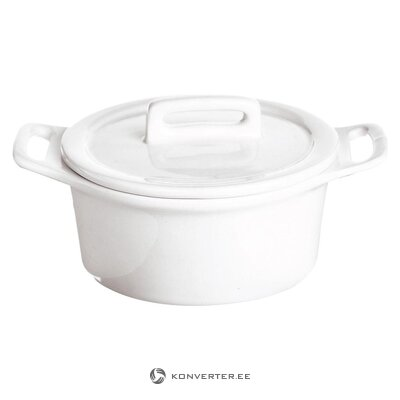White small pot with lid (exelsa)