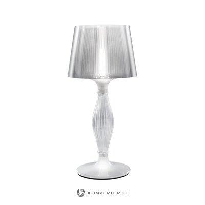 Balta dizaina galda lampa (slampa) (vesela, kastē)