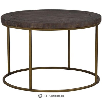Ruskea massiivipuinen sohvapöytä (rowico) (virheillä., Hall-näyte)