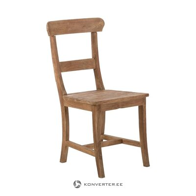 Brown solid wood chair (pub)