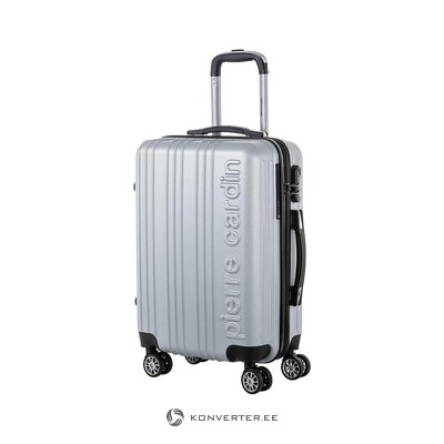 Gray suitcase (pierre cardin)